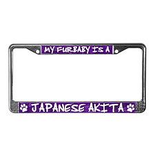 Furbaby Akita License Plate Frame