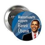 Massachusetts Supports Obama button