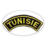 Tunisia Legion Oval Sticker (50 pk)