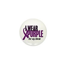 I Wear Purple For My Uncle 10 Mini Button (10 pack