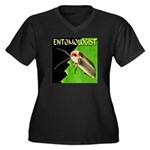 Entomologist Women's Plus Size V-Neck Dark T-Shirt