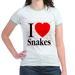I Love Snakes Jr. Ringer T-Shirt