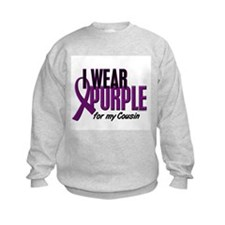 I Wear Purple For My Cousin 10 Sweatshirt
