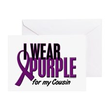 I Wear Purple For My Cousin 10 Greeting Card