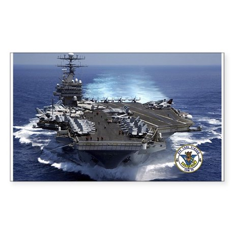 USS Carl Vinson CVN-70 Rectangle Sticker