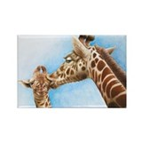 Giraffe and Calf Rectangle Magnet