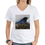 Baby Steller's Jays Women's V-Neck T-Shirt