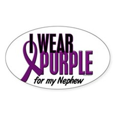 I Wear Purple For My Nephew 10 Decal