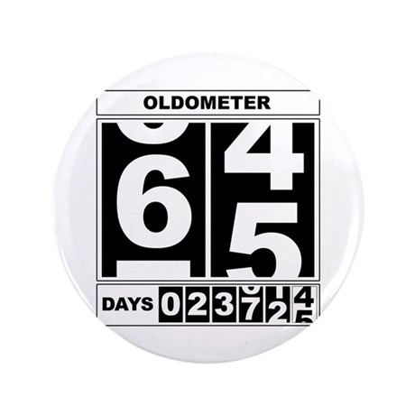"65th Birthday Oldometer 3.5"" Button"