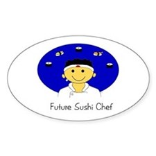 Future Sushi Chef Oval Decal