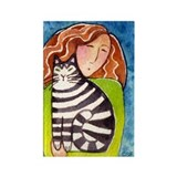 CAT LADY No. 1...Refrigerator Magnet (no text)