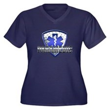 Paramedic Women's Plus Size V-Neck Dark T-Shirt