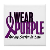 I Wear Purple For My Sister-In-Law 10 Tile Coaster