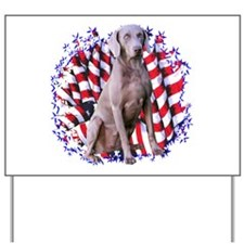 Weimaraner Patriotic Yard Sign