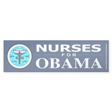 Nurses for Obama Bumper Bumper Sticker