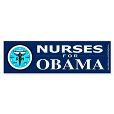 Nurses for Obama Bumper Sticker (10 pk)