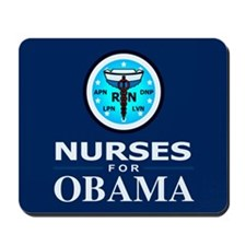 Nurses for Obama Mousepad