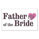 Father of Bride II Rectangle Decal