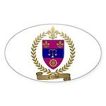 CLICHE Family Crest Oval Sticker