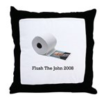 Flush The John Throw Pillow