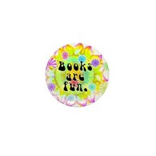 Books Are Fun Mini Button (10 pack)