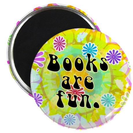 "Books Are Fun 2.25"" Magnet (100 pack)"