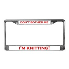 Knitting License Plate Frame