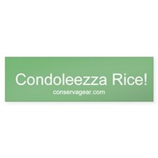 Condoleezza Rice Bumper Bumper Sticker