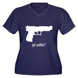 Walther Women's Plus Size V-Neck Dark T-Shirt