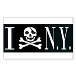 I Hate New York Rectangle Sticker 50 pk)