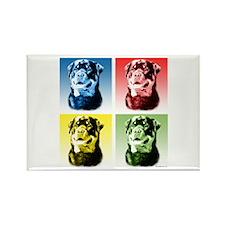 Rottweiler Pop Art Rectangle Magnet