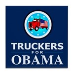 Truckers for Obama Tile Coaster