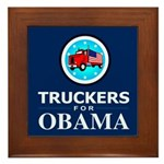 Truckers for Obama Framed Tile