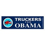 Truckers for Obama Bumper Sticker