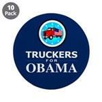Truckers for Obama 3.5&quot; Button (10 pack)