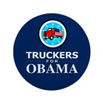 Truckers for Obama 3.5&quot; Button (100 pack)