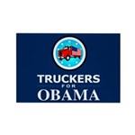 Truckers for Obama Rectangle Magnet