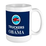 Truckers for Obama Dark Large Mug