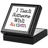 Autism Awareness Teacher Keepsake Box
