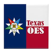 Texas Flag Eastern Star Tile Coaster