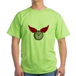 TIME FLIES Green T-Shirt