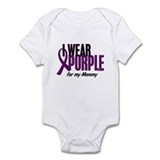 I Wear Purple For My Mommy 10 Onesie