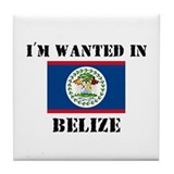 I'm Wanted In Belize Tile Coaster
