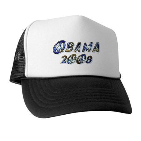 Obama 2008 Earth Trucker Hat