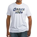 Obama 2008 Earth Fitted T-Shirt