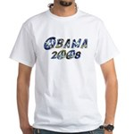 Obama 2008 Earth White T-Shirt