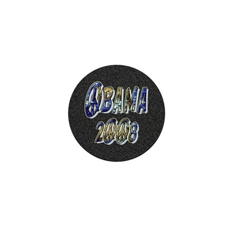 Obama 2008 Earth Mini Button (100 pack)