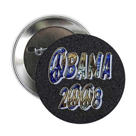 "Obama 2008 Earth 2.25"" Button (100 pack)"