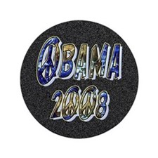 "Obama 2008 Earth 3.5"" Button (100 pack)"