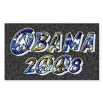Obama 2008 Earth Rectangle Sticker